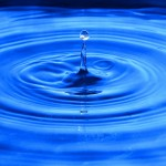 blue water droplet