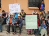 miners and community members stage a protest in Guatemala