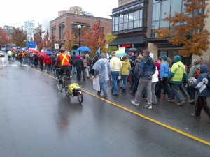 Photo of the Council of Canadians march, by Brent Patterson