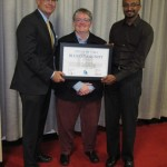 Victoria Blue Community award with Marianne Alto and Dean Fortin